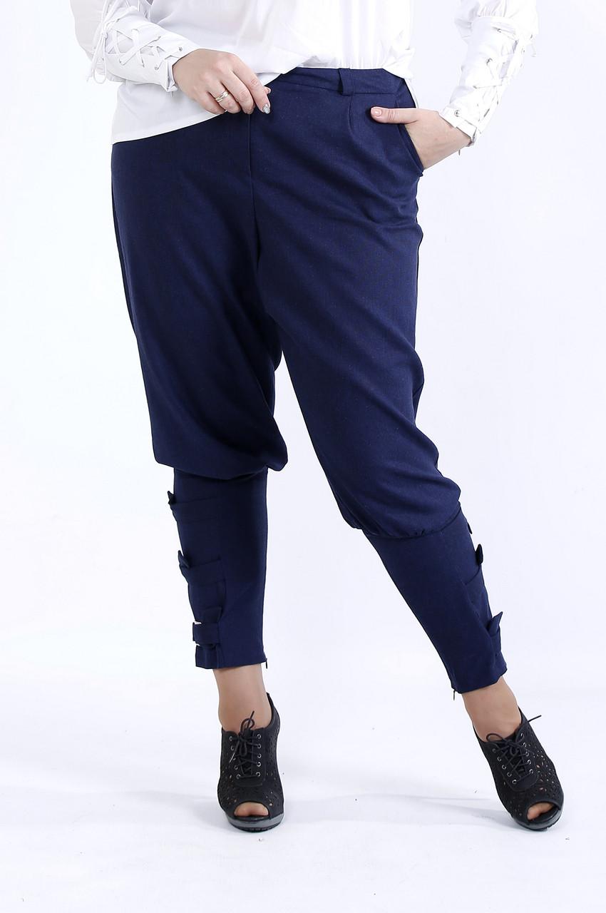 Синие удобные штаны | b041-3