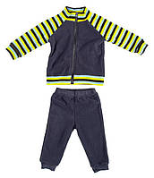Комплект домашней одежды для мальчика, Danaya, серый в полоску (80 р.)