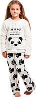 Пижама для девочки, Панда, Danaya, белая (104 р.)