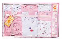 Подарочный комплект для девочки, 10 предметов, Danaya, розовый (0-3 мес.)