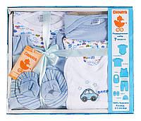 Подарочный комплект для мальчика, 7 предметов, Danaya, голубой (0-3 мес.)