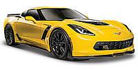 Модель автомобиля Corvette Z06 (желтый), 1:24, Maisto