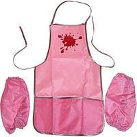 Фартук для творчества с нарукавниками Economix E61490-09 розовый