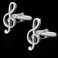 Запонки Скрипичный Ключ музыкальный для музыкантов дирежоров стильный мужской аксессуар с скрипичным ключом