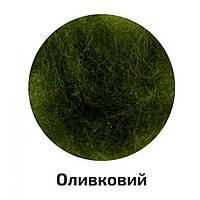 Шерсть для валяния кардочесанная, оливковый, 40 г  №K500840 / Rosa Talent