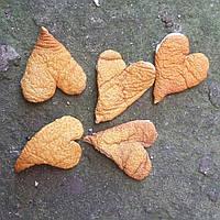 Милые сердечка из цедры, 3-6 см., 5 шт., 10 гр.
