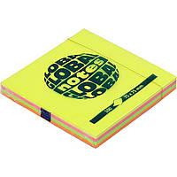 Этикетки самоклеящиеся Global Notes 75х75х100 12 листов/упаковка rainbow NEON GN 3654-39-pk1-b