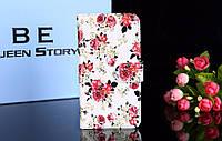 Чехол книжка с рисунком для Sony Xperia XA2 Цветы