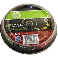 DVD-R 16х 4. 7Gb/120min HP штырь (10)