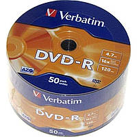 DVD-R 16х 4. 7Gb/120min Verbatim bulk (50) Wrap