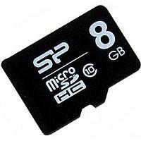 Карта памяти 8Gb Micro-SDHC Silicon Power class10