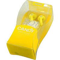 Наушники Remax Candy 301 yellow и микрофон
