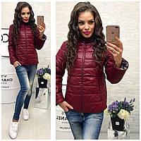 Стильная куртка весна-осень на синтепоне  мята, белый или красный