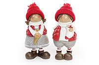 Декоративная фигурка Детки 15см, 2 вида, цвет - красный с серым, набор 2 шт