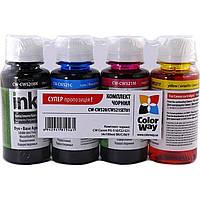 Чернила к-кт ColorWay Canon PG-510/CLI-521 4х100мл (Black, Cyan, Magenta, Yellow)