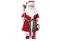 Новогодняя игрушка Санта 45см, цвет - красный