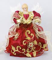 Новогодняя кукла Ангел 30см красный