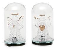 Новогоднее украшение 7.5см с LED-подсветкой Ангел, 2 вида, фото 1