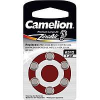 Батарейка Camelion Alkaline ZincAir 312/6bl