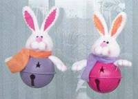 Колокольчик с мягкой игрушкой Кролик, 14см, набор 96 шт