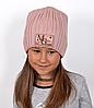 Блестящая шапка Мистик.Зима.р.53-57 (от 6 лет) детская/женская. Пудра, пыльная роза,св.серый