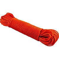 Веревка хозяйственная цветная d5 мм полиэтилен , 4 цветный (40) №4-5-50 Y