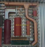 Металлическая водосточная система, желоб D-150 мм, труба D-120мм,  цветная * Колено верх, фото 7