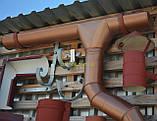 Металлическая водосточная система, желоб D-150 мм, труба D-120мм,  цветная * Колено верх, фото 9