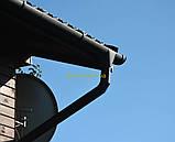 Металлическая водосточная система, желоб D-150 мм, труба D-120мм,  цветная * Колено верх, фото 6