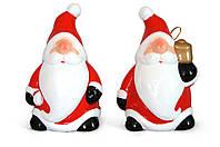 Новогодняя фигурка с колокольчиком Санта 12см, 2 вида, набор 8 шт