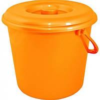 Крышка для ведра 10л Алеана оранжевая 122030 (15)