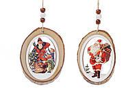 Новогоднее украшение-подвеска 20см Санта, 2 вида, набор 72 шт