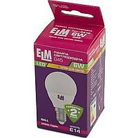 "Лампа ""ELM"" LED 18-0092 D45 6 Вт PA10 3000 K E14 (50)"