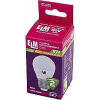 "Лампа ""ELM"" LED 18-0093 D45 6 Вт PA10 3000 K E27 (50)"