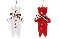 Новогоднее украшение-подвеска 22см Мишка, 2 вида, набор 24 шт