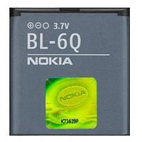 Батарея (АКБ, аккумулятор) BL-6Q для телефонов Nokia (970 mAh), оригинал