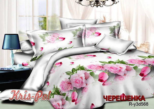 Двуспальный набор постельного белья 180*220 из Ранфорса №18568 KRISPOL™, фото 2