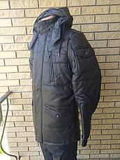 Дубленка, куртка мужская зимняя из PU кожи удлиненная JOSS&WEDON, фото 3