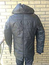Дубленка, куртка мужская зимняя из PU кожи удлиненная JOSS&WEDON, фото 2