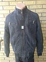 Дубленка,  куртка мужская на меху из экокожи JINMAN