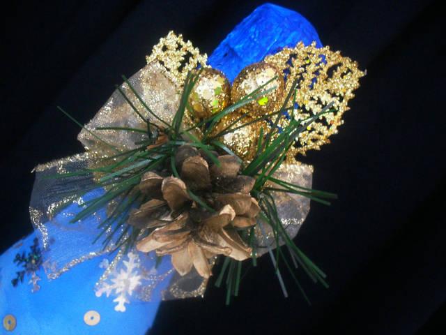 Декор новогоднего шампанского 1