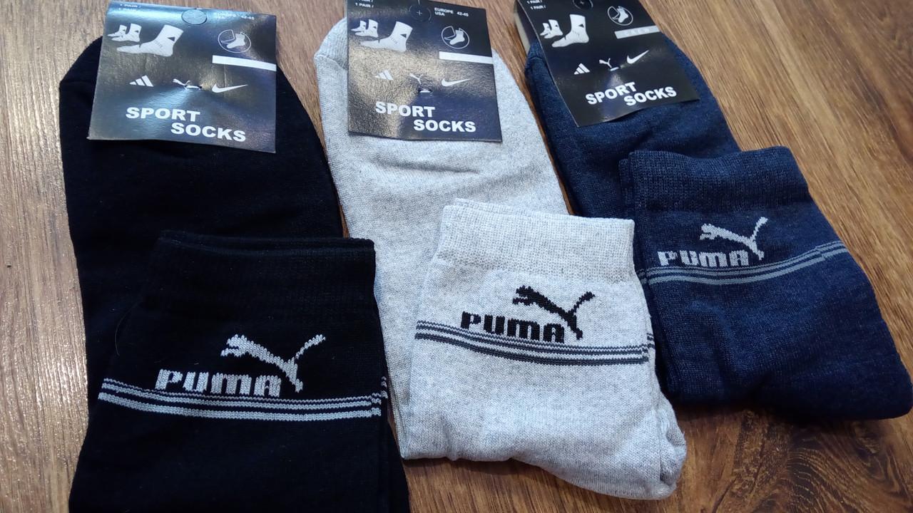 """Носки мужские с махровой стопой,в стиле """"Puma SS"""" Турция"""