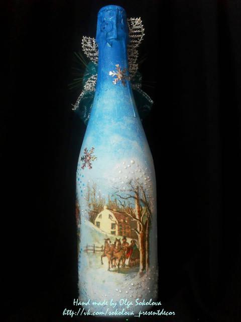 Декор новогоднего шампанского 9
