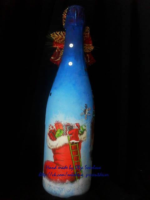 Декор новогоднего шампанского 13