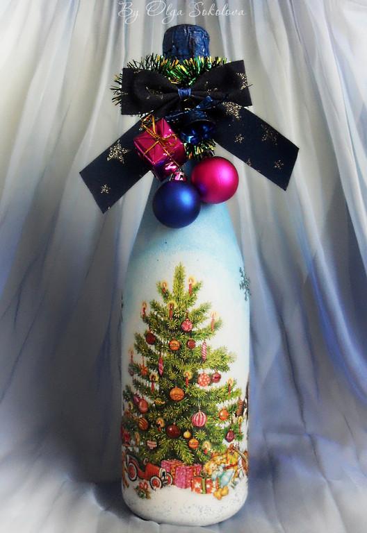 Декор новогоднего шампанского