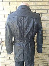 Куртка мужская из экокожи удлиненная JINMAN, фото 3