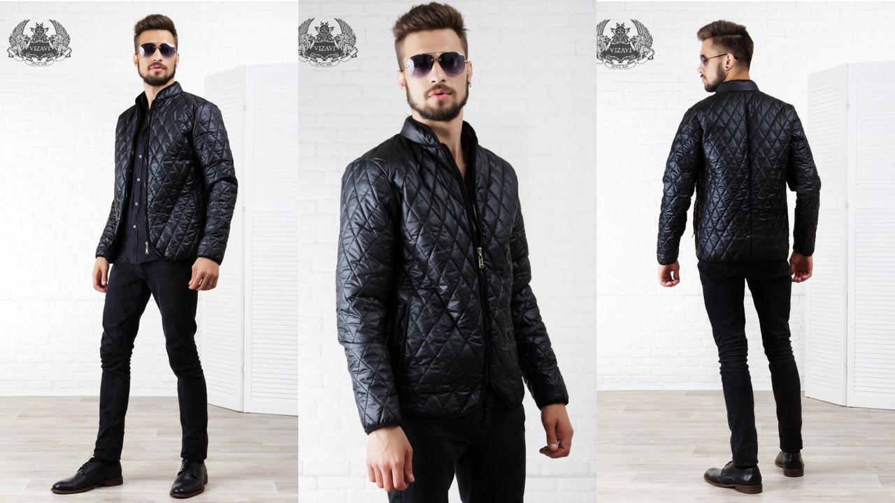 Мужская куртка  из стеганной плащевки  арт 6440-223