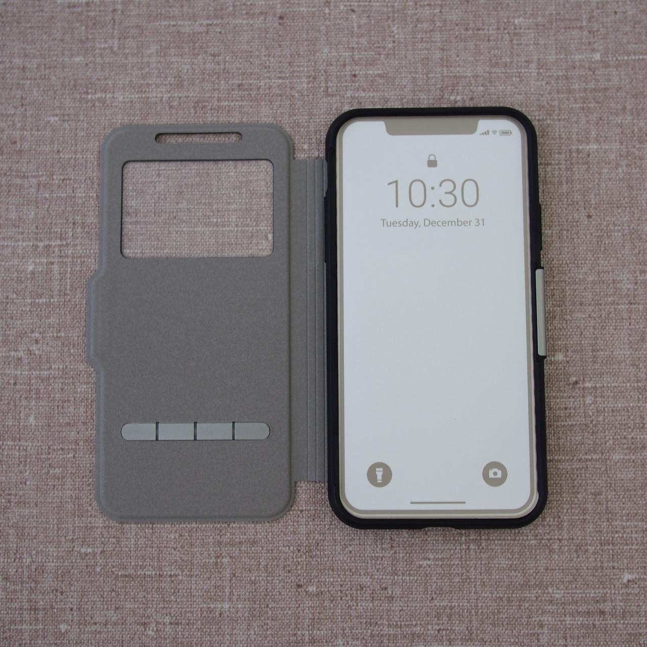 Чехол Moshi SenseCover Slim Folio iPhone Xs X metro black Для телефона Черный