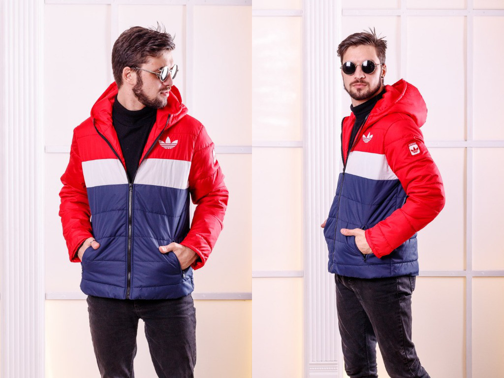 41f55cb555c Купить Мужская куртка из плащевки на синтепоне с капюшоном арт 6442 ...