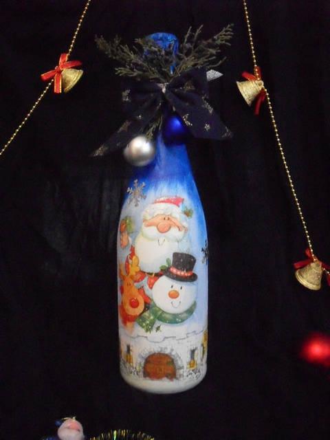 Декор новогоднего шампанского 19
